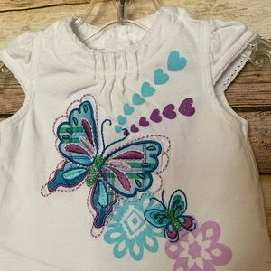 Children's Place Matching Sets - Children's Place Butterfly & Flower Set -Size 0-3M